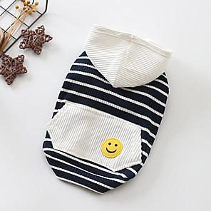 ieftine Gadget-uri De Glume-Câini Tricou Îmbrăcăminte Câini Rosu Albastru Costume Bebeluș Caine mic Bumbac Dungi Englezesc XS S M L XL XXL