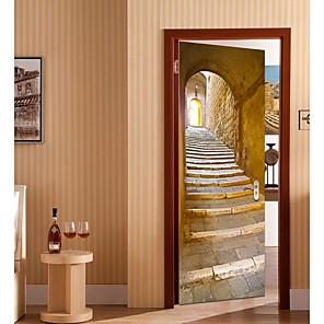 Χαμηλού Κόστους Διακοσμητικά Τοίχου-Νεκρή Φύση / Γραφικό Αυτοκολλητα ΤΟΙΧΟΥ 3D Αυτοκόλλητα Τοίχου Αυτοκόλλητα πόρτας, Βινύλιο Αρχική Διακόσμηση Wall Decal Τοίχος / Γυαλιού / Μπάνιο Διακόσμηση 2
