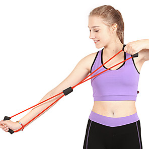 ieftine Accesorii Fitness-Bandă de rezistență / Tub de exerciții Cauciuc Forța de Formare Întindere Fizioterapie Antrenament de rezistenta Yoga Fitness Gimnastică antrenament Pentru