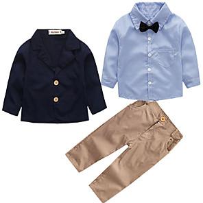 ieftine Afișaje-Copil Băieți Activ Petrecere Zilnic Școală Mată Manșon Lung Regular Regular Bumbac Set Îmbrăcăminte Bleumarin