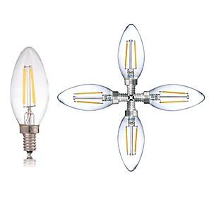 ieftine Îngrijire Unghii-5pcs 2 W 180 lm E14 Bec Filet LED C35 2 LED-uri de margele COB Lumină LED / Decorativ Alb Cald / Alb Rece 220-240 V / RoHs