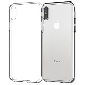 ieftine Carcase iPhone-Maska Pentru Apple iPhone X / iPhone 8 Plus / iPhone 8 Transparent Capac Spate Mată Moale TPU