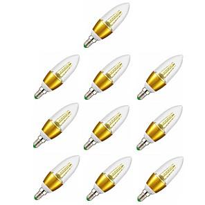 ieftine Produse de Bar-10pcs 7 W Becuri LED Lumânare 600 lm E14 C35 35 LED-uri de margele SMD 2835 Lumină LED Decorativ Alb Cald 220-240 V / RoHs