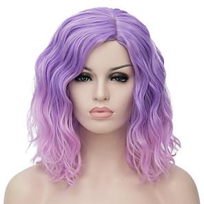ieftine Peruci & Extensii de Păr-Peruci Sintetice Ondulat Ondulat Tunsoare bob Perucă Ombre  Scurt Violet Păr Sintetic Pentru femei Păr Ombre Partea Mijlocie Ombre