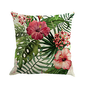 ieftine Perne-1 buc Bumbac / In Față de pernă Pernă Noutate Față de Pernă, Floral Noutate Modă Floare Tropical