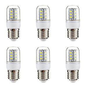ieftine Becuri LED Corn-BRELONG® 6pcs 3W 270 lm E14 E26/E27 Becuri LED Corn 24 led-uri SMD 5730 Alb Cald Alb 220V-240V