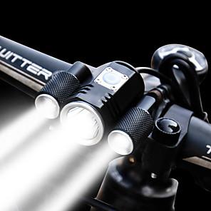 ieftine Pânză Pescuit-Lumini de Bicicletă Iluminat Bicicletă Față Becul farurilor LED Bicicletă Ciclism Rezistent la apă Moduri multiple Foarte luminos Ajustabil 1900 lm Reîncărcabil 18650 Alb Ciclism / Aliaj de Aluminiu