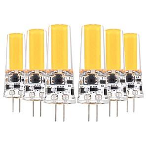 ieftine Becuri LED Bi-pin-YWXLIGHT® 6pcs 5 W Becuri LED Bi-pin 400-500 lm G4 T 1 LED-uri de margele COB Decorativ Alb Cald Alb Rece 12-24 V 12 V