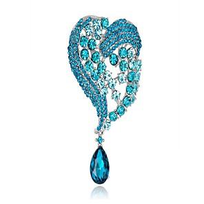 ieftine Broșe-Pentru femei Broșe Inimă femei Modă Broșă Bijuterii Alb Albastru Roz trandafiriu Pentru Nuntă Petrecere Cadou Mascaradă Petrecere Logodnă Bal