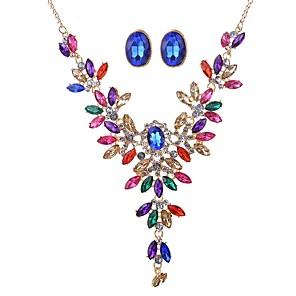 ieftine Brățări-Pentru femei Cercei Picătură Y Colier femei Clasic Supradimensionat cercei Bijuterii Auriu Pentru Ceremonie Serată