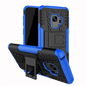 abordables Gadgets & Ustensiles de Cuisine-Coque Pour Samsung Galaxy S9 / S9 Plus / S8 Plus Antichoc / Avec Support Coque Lignes / Vagues Dur PC
