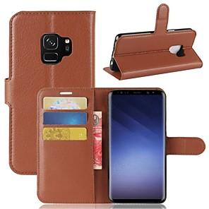ieftine Imbracaminte & Accesorii Căței-Maska Pentru Samsung Galaxy S9 / S9 Plus / S8 Plus Portofel / Titluar Card / Întoarce Carcasă Telefon Mată Greu PU piele