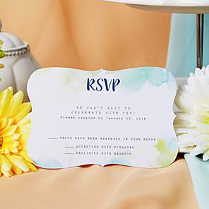 cheap Apple-Flat Card Wedding Invitations 50-Pack / 20-Pack - Invitations Sets Artistic Style Pearl Paper
