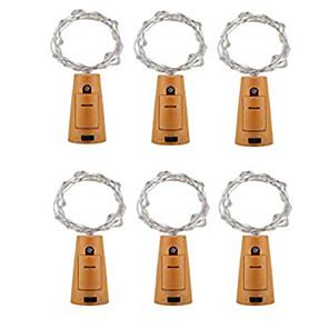 ieftine Fâșii Becurie LED-2m Fâșii de Iluminat 20 LED-uri Alb Cald / Multicolor Rezistent la apă / Decorativ / Crăciun <5 V 6pcs / IP65