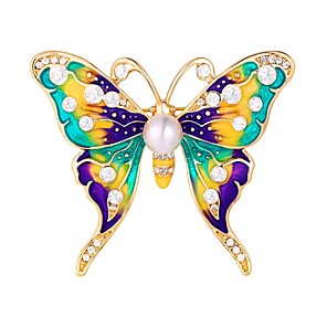 povoljno Broševi-Žene Broševi Rukav leptir Sa životinjama dame slatko Broš Jewelry Zlatan Srebro Za Dnevno Spoj