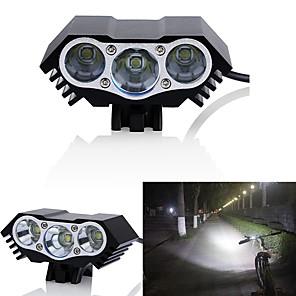 ieftine Frontale-LED Lumini de Bicicletă Iluminat Bicicletă Față Becul farurilor LED Ciclism montan Bicicletă Ciclism Rezistent la apă Moduri multiple Foarte luminos Unghi Larg 18650 3000 lm DC Powered Ciclism