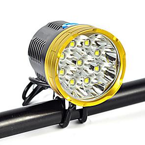 ieftine Frontale-Frontale Farurilor Curele lumini de securitate 18000 lm LED LED 9 emițători 9 Mod Zbor Camping / Cățărare / Speologie Utilizare Zilnică Ciclism Auriu Rosu