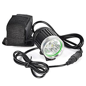 ieftine Frontale-Frontale Becul farurilor 6000 lm LED LED emițători 1 Mod Zbor Profesional Rezistent la uzură Ușor Camping / Cățărare / Speologie Ciclism Vânătoare Negru