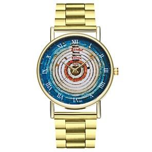 ieftine Imbracaminte & Accesorii Căței-Pentru femei ceas de aur Oțel inoxidabil Auriu Cronograf Mare Dial Analog femei Vintage Plin de Culoare - Auriu Un an Durată de Viaţă Baterie / SSUO LR626