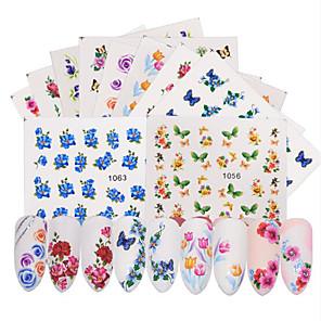 ieftine Îngrijire Unghii-50 pcs Acțibilde Aplicația de transfer de apă Floare / Fluture nail art pedichiura si manichiura Ecologic Clasic Zilnic