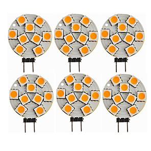 ieftine Spoturi LED-SENCART 6pcs 1.5 W Becuri LED Bi-pin 270 lm G4 T 9 LED-uri de margele SMD 5050 Decorativ Alb Cald 12 V / CE