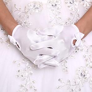 ieftine Mănuși & Mănuși 1 deget-Orlon Lungime Încheietură Mănușă Mănuși Fete cu Flori Cu Perlă Artificială / Volane