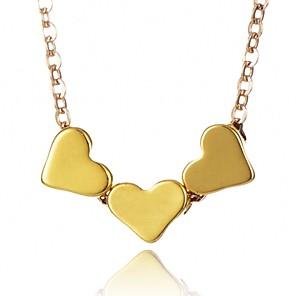 ieftine Ceasuri Damă-Pentru femei Coliere cu Pandativ Inimă Modă chunky Aliaj Auriu Argintiu Coliere Bijuterii Pentru Zilnic Birou și carieră