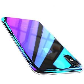 ieftine Becuri De Mașină LED-Maska Pentru Apple iPhone X / iPhone 8 Plus / iPhone 8 Placare Capac Spate culoare Gradient Greu PC