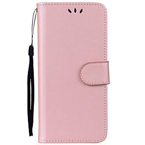 Недорогие Чехлы и кейсы для Galaxy A7-Кейс для Назначение SSamsung Galaxy S8 Plus / S8 / S7 edge Бумажник для карт / со стендом / Флип Чехол Однотонный Твердый Кожа PU