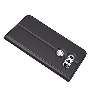 ieftine Benzi Lumină LED-Maska Pentru LG LG V30 Titluar Card / Cu Stand Carcasă Telefon Mată Greu PU piele