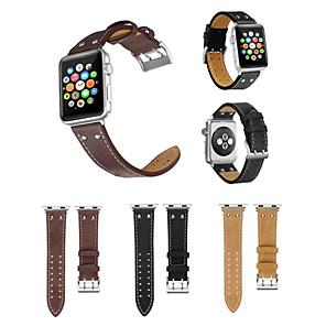 Недорогие Чехол Samsung-Ремешок для часов для Apple Watch Series 4/3/2/1 Apple Классическая застежка Натуральная кожа Повязка на запястье