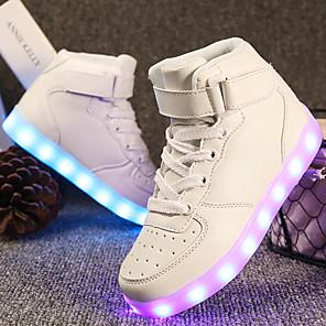 povoljno LED trakasta svjetla-Dječaci / Djevojčice LED / Udobne cipele / Svjetleće tenisice Umjetna koža Sneakers Mala djeca (4-7s) / Velika djeca (7 godina +) Hodanje Vezanje / Kopčanje na kukicu / LED Crn / Obala / Crvena