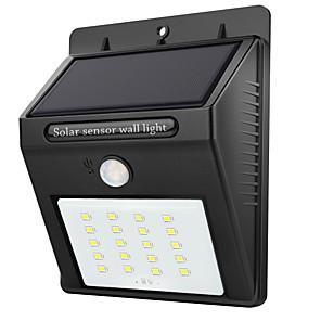 お買い得  LED ソーラーライト-1個 2 W LEDソーラーライト 防水 / 赤外線センサー / ライトコントロール ホワイト 3.7 V 屋外照明 20 LEDビーズ