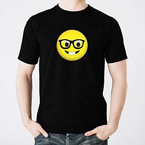 お買い得  LED T シャツ-純粋な綿のledカジュアル2×AAのTシャツの輝くled