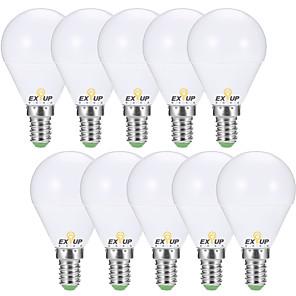povoljno Kutija i prikaz nakita-EXUP® 10pcs 7 W 680 lm E14 / E26 / E27 LED okrugle žarulje G45 6 LED zrnca SMD 2835 Ukrasno Toplo bijelo / Hladno bijelo 220-240 V / 110-130 V / 10 kom. / RoHs / CCC / ERP / LVD