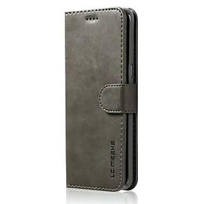 voordelige Galaxy S-serie hoesjes / covers-hoesje Voor Samsung Galaxy S8 Plus / S8 / S7 edge Portemonnee / Kaarthouder / Schokbestendig Volledig hoesje Effen Hard PU-nahka