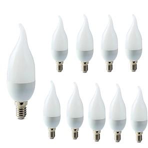 ieftine Becuri LED Lumânare-10pcs 2 W Becuri LED Lumânare 200 lm E14 C35L 10 LED-uri de margele SMD 2835 Decorativ Alb Cald Alb Rece 220-240 V / RoHs