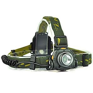 ieftine Frontale-Frontale Becul farurilor 300 lm LED LED emițători 1 Mod Zbor Camping / Cățărare / Speologie Ciclism Verde Pădure