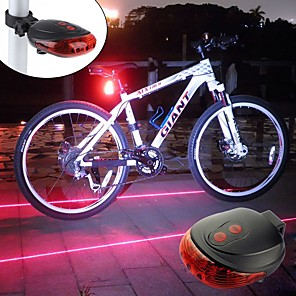 ieftine Coliere-Laser Lumini de Bicicletă Iluminat Bicicletă Spate lumini de securitate LED Ciclism montan Bicicletă Ciclism Rezistent la apă Portabil Alarmă Atenţie Baterie reîncărcabilă 300 lm Baterii alimentate