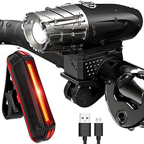 ieftine Lumini de Bicicletă-LED Lumini de Bicicletă Set de iluminat bicicletă reîncărcabilă Iluminat Bicicletă Față Iluminat Bicicletă Spate LED Ciclism montan Bicicletă Ciclism Rezistent la apă Moduri multiple Foarte luminos