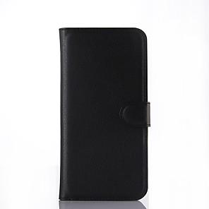 Недорогие Защитные плёнки для экранов Samsung-Кейс для Назначение SSamsung Galaxy A7(2016) / A5(2016) / A3(2016) Кошелек / Бумажник для карт / Флип Чехол Однотонный Твердый Кожа PU
