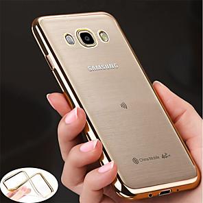 abordables Coques / Etuis pour Galaxy Série J-Coque Pour Samsung Galaxy J7 Prime / J7 (2017) / J7 (2016) Plaqué / Ultrafine / corps Transparent Coque Couleur Pleine Flexible TPU