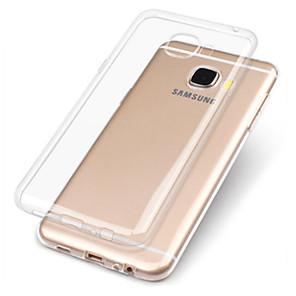 Недорогие Чехлы и кейсы для Galaxy A3-Кейс для Назначение SSamsung Galaxy A3 (2017) / A5 (2017) / A7 (2017) Прозрачный Кейс на заднюю панель Однотонный Мягкий ТПУ