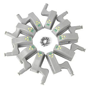 povoljno LED noćna rasvjeta-ywxlight® pakira unutarnji senzor sa zglobom pod svjetiljkom ormara za kuhinjsku spavaću sobu ormar ormar noćna lampica