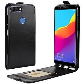 ieftine Walkie Talkies-Maska Pentru Huawei Y9 (2018)(Enjoy 8 Plus) / Huawei Y7 Prime(Enjoy 7 Plus) / Y7 Prime (2018) Titluar Card / Întoarce Carcasă Telefon Mată Greu PU piele