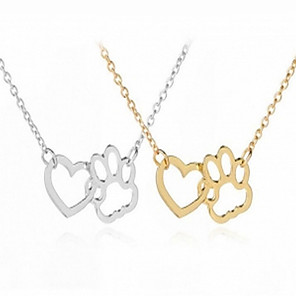 ieftine Colier la Modă-Pentru femei Coliere cu Pandativ Inimă Simplu Modă Aliaj Auriu Argintiu 40 cm Coliere Bijuterii Pentru Zilnic