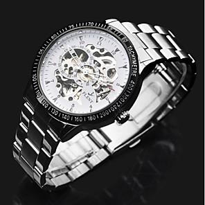 ieftine Ceasuri Bărbați-ASJ Bărbați Ceas Elegant ceas mecanic Mecanism automat Oțel inoxidabil Argint Gravură scobită Cool Analog Lux Clasic - Argintiu
