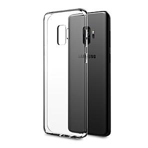 baratos Capinhas para Galaxy Série S-Capinha Para Samsung Galaxy S9 / S9 Plus / S8 Plus Ultra-Fina / corpo transparente Capa traseira Sólido Macia TPU