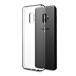 voordelige Galaxy S-serie hoesjes / covers-hoesje Voor Samsung Galaxy S9 / S9 Plus / S8 Plus Ultradun / transparante Body Achterkant Effen Zacht TPU