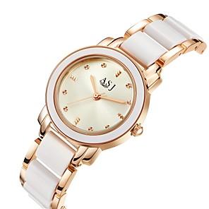ieftine Ceasuri Damă-ASJ Pentru femei Ceas de Mână ceas de aur Quartz Ceramică Argint / Roz auriu 30 m Rezistent la Apă imitație de diamant Analog femei Lux Casual - Argintiu Roz auriu Doi ani Durată de Viaţă Baterie